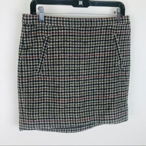J. Crew 100% Wool Patterned Two Pocket Straight